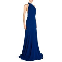 Stella Mccartney Sleeveless Gown With Removable Cape Black