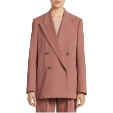 Acne Studios Double-Breasted Corded Blazer Old Pink 0400099488823 - Women's Coats & Jackets NFUWCJA